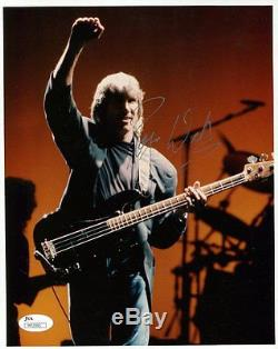 ROGER WATERS autographed 8x10 color photo AWESOME POSE PINK FLOYD JSA