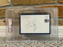Rare Floyd Mayweather Jr Signed Auto Postcard Boxing Tbe Full Vintage Sig Psa
