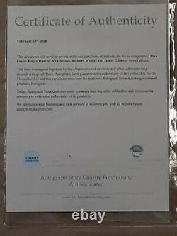 Rare Pink Floyd The Dark Side Of The Moon Signed by Roger Water, Nick Mason, R