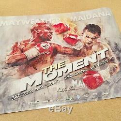 Richard T. Slone 2014 Floyd Mayweather On-Site 24x18 Boxing Poster Signed TMT