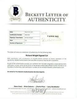 Richard Wright Signed Autographed Cut Autograph Pink Floyd Beckett LOA