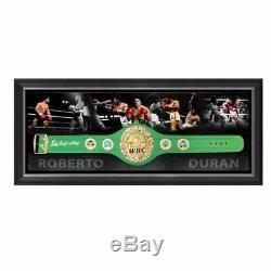 Roberto Duran Hand Signed Framed Heavyweight Champions Belt Tyson Ali Floyd