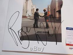 Roger Water Signed Pink Floyd Wish You Were Here Vinyl Lp Psa/dna Coa Ac63002