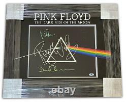 Roger Waters David Gilmour Nick Mason Signed Auto Pink Floyd 11x14 Photo Beckett