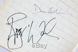 Roger Waters & David Gilmour Pink Floyd Signed The Wall Album Cover BAS #A00298