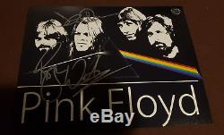 Roger Waters & David Gilmour hand signed 8x10 photo Pink Floyd autograph
