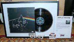 Roger Waters Framed Signed Pink Floyd Dark Side Of The Moon Album Record Psa