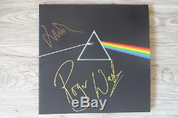Roger Waters & Nick Mason Pink Floyd signed LP-Cover The Dark Side. Vinyl