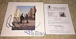 Roger Waters Nick Mason Signed Pink Floyd Wish You Were Here Vinyl Album Bas