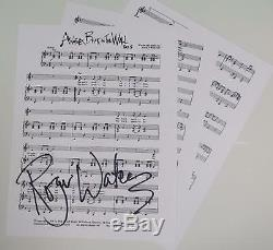 Roger Waters PINK FLOYD Signed Autograph Another Brick In The Wall Sheet Music