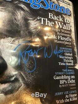Roger Waters Pink Floyd Hand Signed Rolling Stone Magazine Autograph