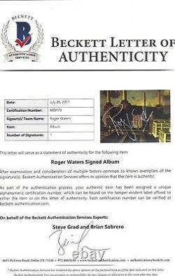 Roger Waters Pink Floyd Legend Signed Autographed Animal Vinyl Album Bas #09779
