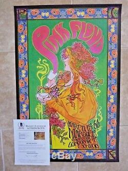 Roger Waters Pink Floyd Signed Autograph 24x36 Poster BAS Certified The Wall #7