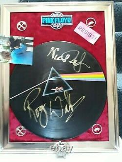 Roger Waters Signed + Mason (Photo Proof) PINK FLOYD DARK SIDE OF THE MOON