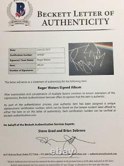 Roger Waters Signed Pink Floyd Dark Side Of The Moon Vinyl Album BAS Beckett LOA