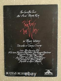 Roger Waters Signed Pink Floyd The Wall Original Movie Program Booklet FA LOA