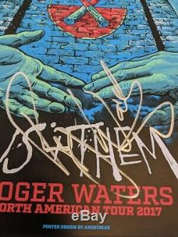 Roger Waters Signed official 2007 tour litho by Roger 18x24 Pink Floyd