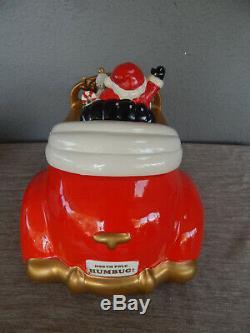 SIGNED! 1986 Fitz and Floyd Rolls Royce Santa Christmas Car Cookie Jar