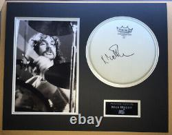 SIGNED NICK MASON 20x16 DRUM HEAD MOUNTED DISPLAY RARE PINK FLOYD WATERS GILMOUR