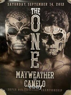 Saul Canelo Alvarez vs Floyd Money Mayweather Signed Day Of Dead Boxing Poster