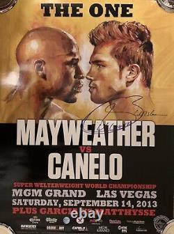 Saul Canelo Alvarez vs Floyd Money Mayweather Signed Richard Slone Boxing Poster
