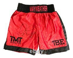 Signed Floyd Mayweather Boxing Shorts World Champion TMT Autograph +COA