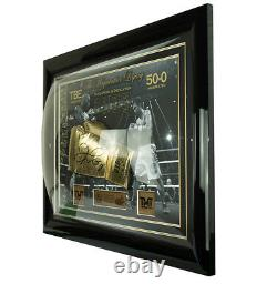Signed Floyd Mayweather Jr Boxing Glove Framed Display Undefeated Legacy