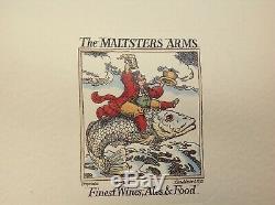 Signed Keith Floyd & David Beasley New Years Eve Menu 1992 The Maltsters Arms