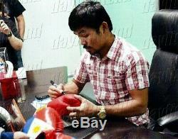 Signed MANNY PACMAN PACQUIAO Boxing Glove PROOF COA UFC MMA Floyd Mayweather