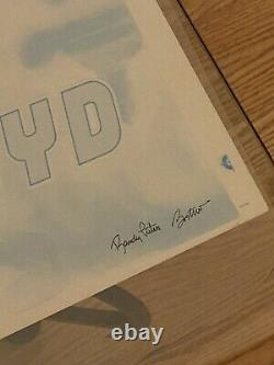 Signed Pink Floyd Test Print ORIGINAL Blue Flying Pig 1977 Concert Poster