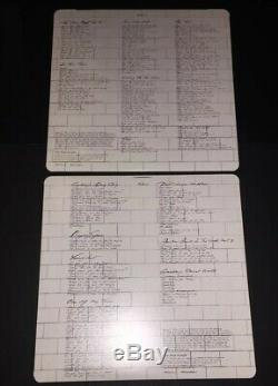 Signed Roger Waters Nick Mason Pink Floyd The Wall Vinyl Album Rare Proof