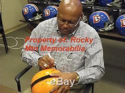 Signed Syracuse FLOYD LITTLE RK HELMET with College HOF