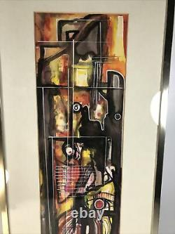 South Carolina African American Floyd Gordon Signed Original Watercolor Modern