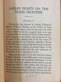 VERY RARE, Indian Fights on the Texas Frontier Floyd Holmes 1927 Signed HB