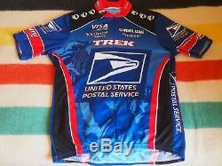 VTG 1998-1999 USPS TREK Cycling Jersey FLOYD LANDIS SIGNED Pearl Izumi Large EUC