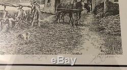 Vintage Floyd Sonnier Print (Best Cajun Syrup) Certificate Signed 114/200
