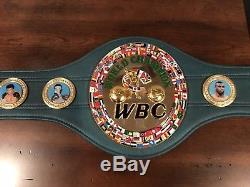 WBC World Champion Title Belt Replica Signed By Floyd Mayweather Jr Beckett COA