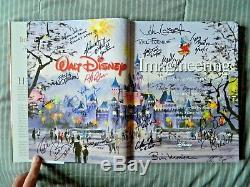 Walt Disney Imagineering Signed John Lasseter Tony Baxter Floyd Norman (PSA)